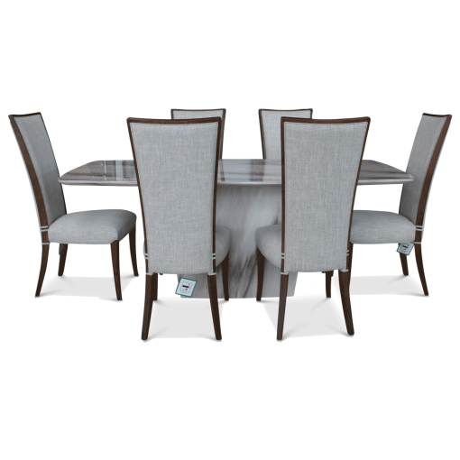 Soprano Marble Table & 6 Chairs