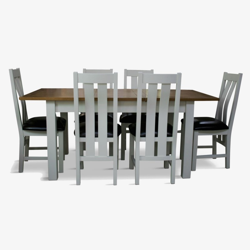 erne extending table & 6 chairs