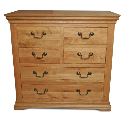 Durham oak chest of drawers